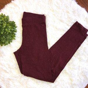 PINK Victoria's Secret Burgundy Cotton Leggings